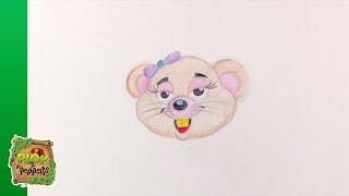 Kijk Pip de muis tekenen filmpje