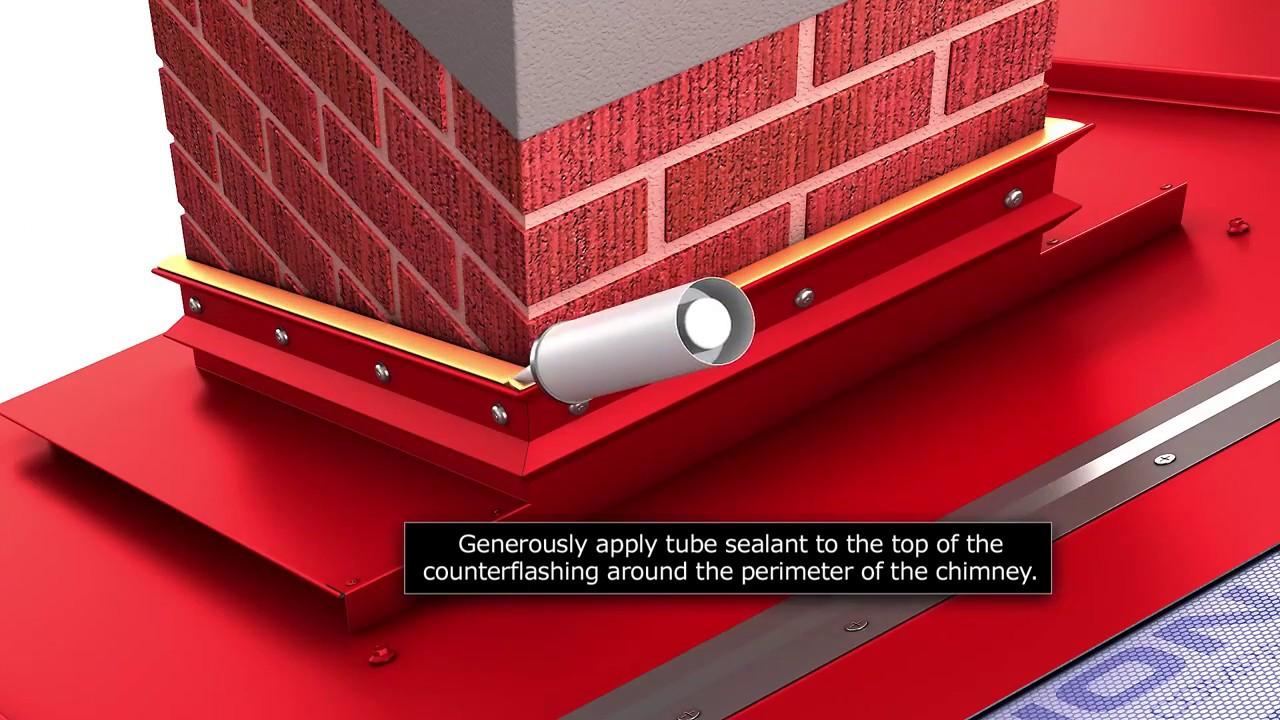 Roof Perimeter Flashing Amp Detail Concrete Parapet U0026