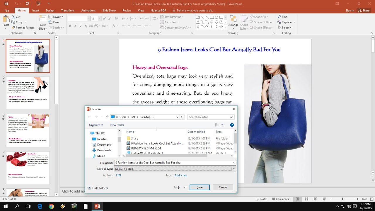 how to save powerpoint as pdf with video