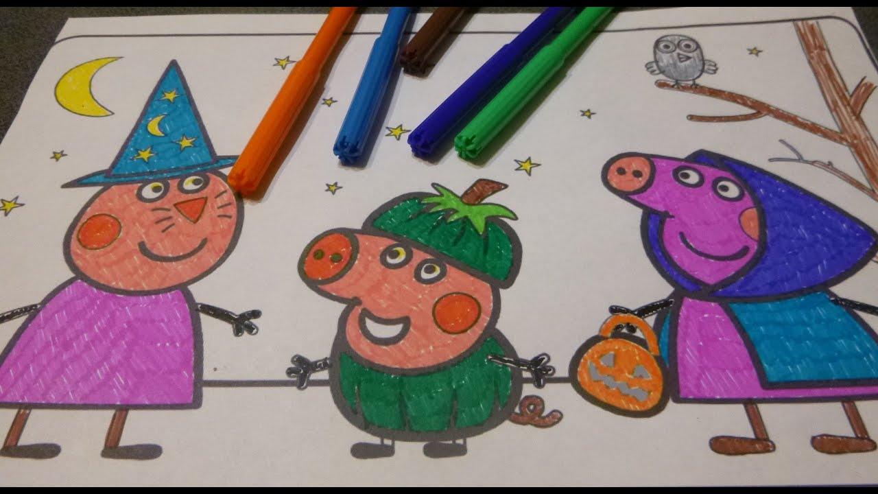 свинка пеппа раскраска Peppa Pig Coloring