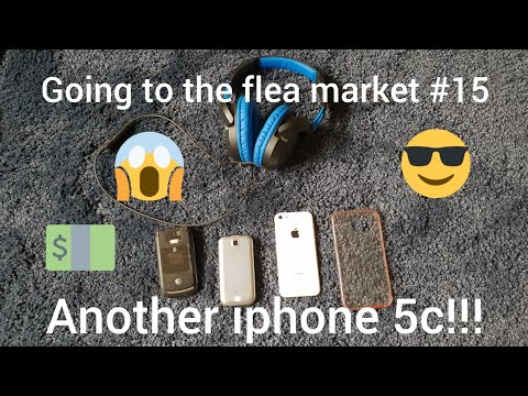 Going to the flea market #15 (Another iphone 5c!!!)