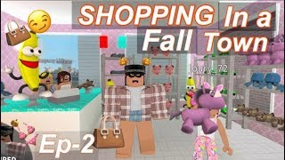 Roblox Bloxburg|  Halloween Town Shopping! J&C Vlogs Ep2