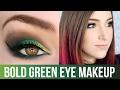 Bold Bright Green Eye Makeup Tutorial || KELLI MARISSA