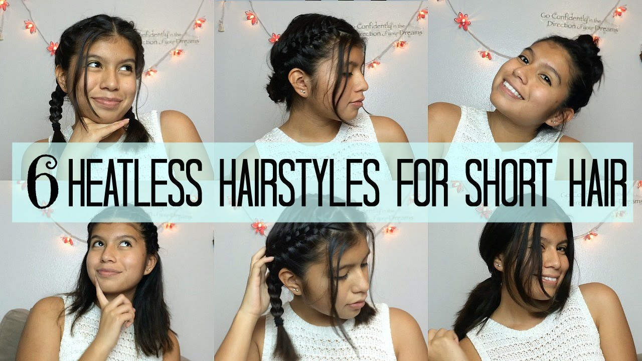 6 Heatless Hairstyles For Short Hair Bts