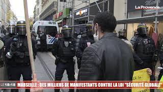 """Marseille : des milliers de manifestants rassemblés contre la loi """"sécurité globale"""""""