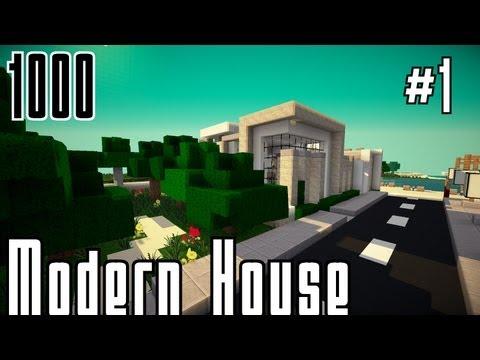 Full download minecraft villa bauen modernes haus 001 for Modernes haus command