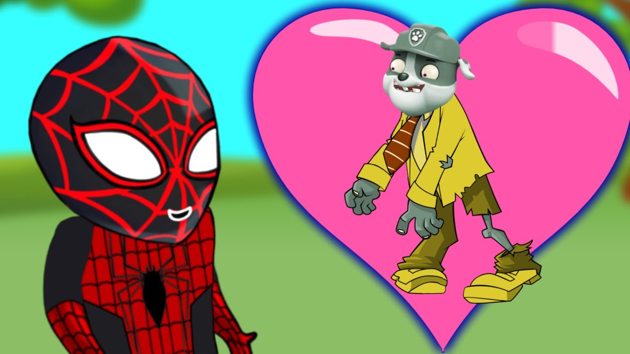 Paw Patrol ZOMBIES Rubble Marries Spiderman Full Length English Episodes For Kids 2017