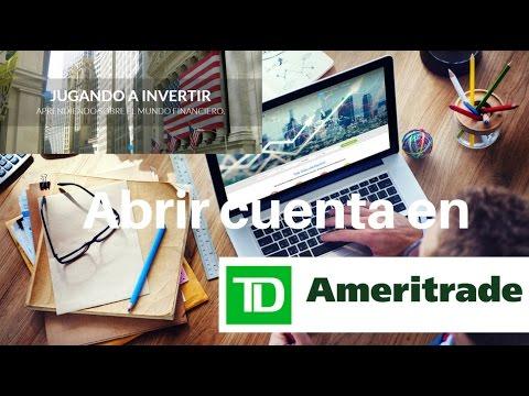 ¿Cómo abrir una cuenta en TD Ameritrade? - Jugando a Invertir