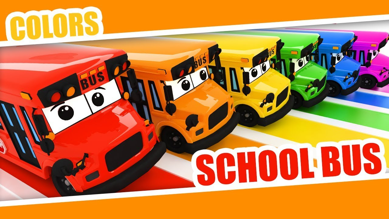 Download Learn Colors with Bus with Kids   Color Rainbow   School Bus Colors