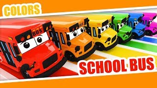 Learn Colors with Bus with Kids | Color Rainbow | School Bus Colors