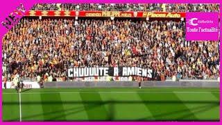 Lens-Reims : des supporters lensois affichent une banderole polémique à Lens