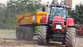 Massey Ferguson 8480 tractor traktor in action!!