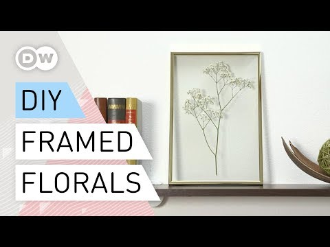 DIY - How to make a Still Life Behind Glass |  Tutorial Framed Florals | Pressed-Flowers