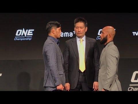 Demetrious Johnson vs. Yuya Wakamatsu ONE Championship: A New Era Staredown