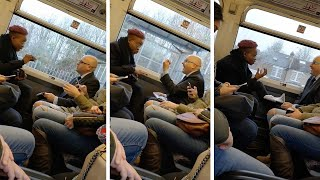 Argument Erupts On Packed Train