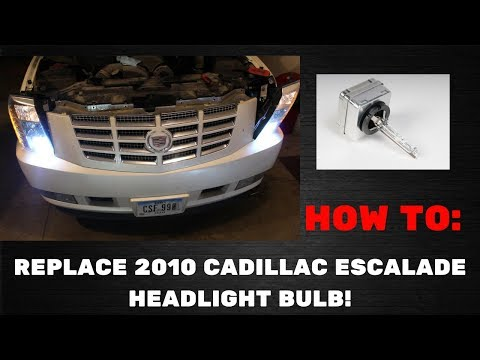 HOW TO REPLACE CADILLAC ESCALADE HEADLIGHT BULB!