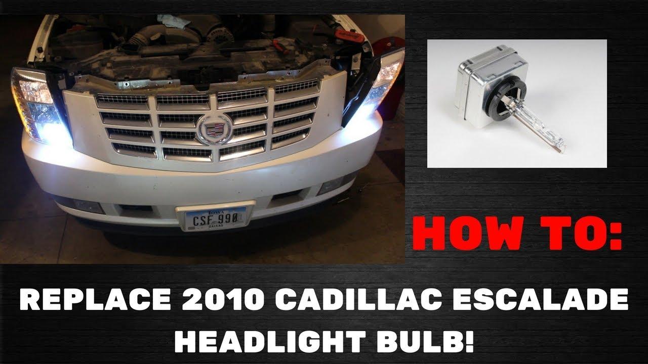 How To Replace Cadillac Escalade Headlight Bulb