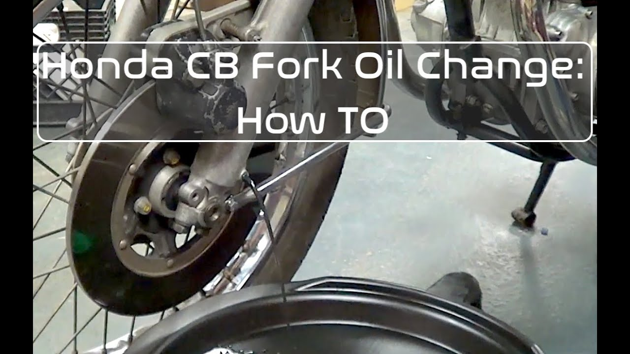 how to change fork oil
