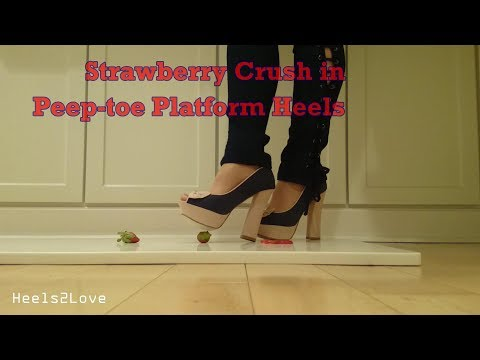 Modelling & Strawberry Crush in Peep Toe Platform Heels (3 minutes)