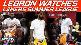 Reaction to LeBron Attending 2018 NBA Summer League | Hoops N Brews