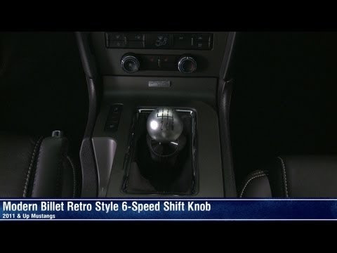 Mustang Retro Style 6-Speed Shift Knob - White, Black, Chrome or Satin (11-14 All) Review