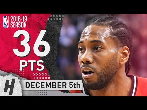 Kawhi Leonard MVP Highlights Raptors vs 76ers 2018.12.05 - 36 Pts, 9 Reb, BEAST!