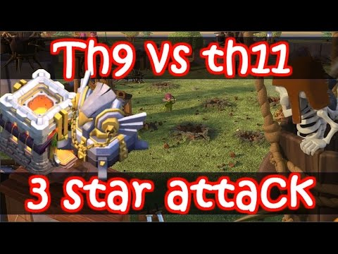 Clash Of Clans   SICK Th9 Vs Th11 With Eagle Artillery   3 Star Attack