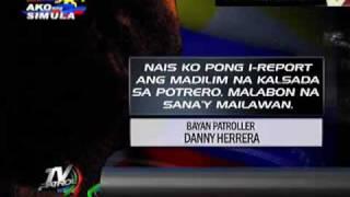 Bayan Patroller reports vs dark Malabon road