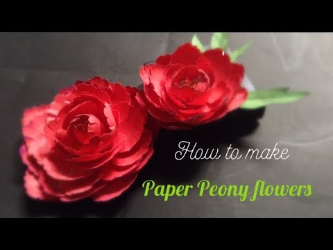 How to make paper  peony flowers l DIY paper  peony flowers l CREATING CRAFTING