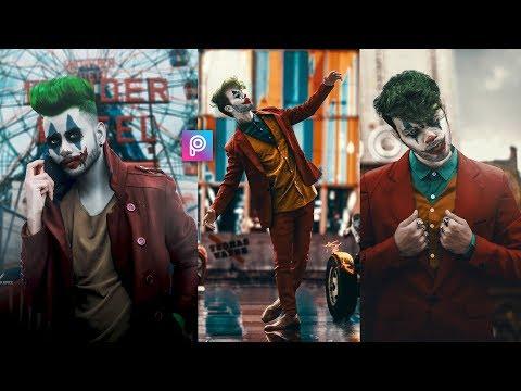 PicsArt Joker Face Concept Photo Editing Tutorial in picsart Step by Step in Hindi - Joker Editing thumbnail