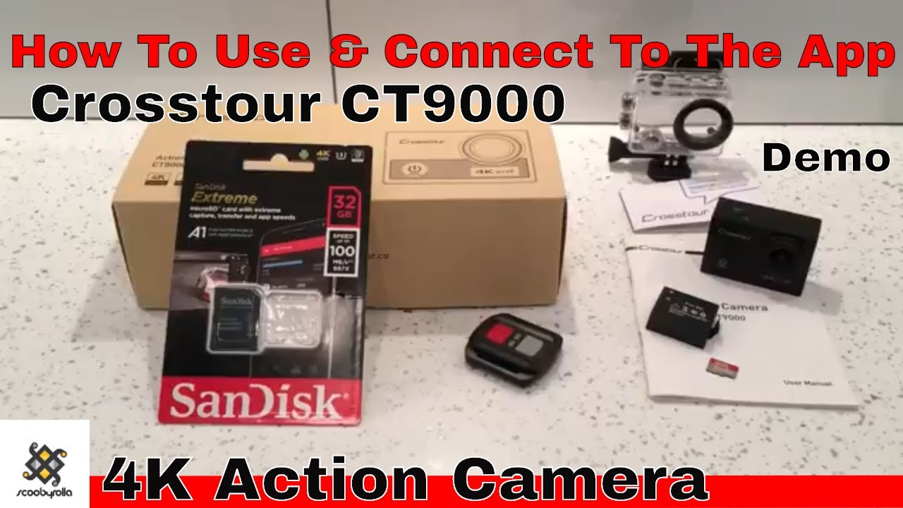 How To Use Crosstour CT9000 4K Action Camera   Connect To iSmart DV ... 0ff849f0d238