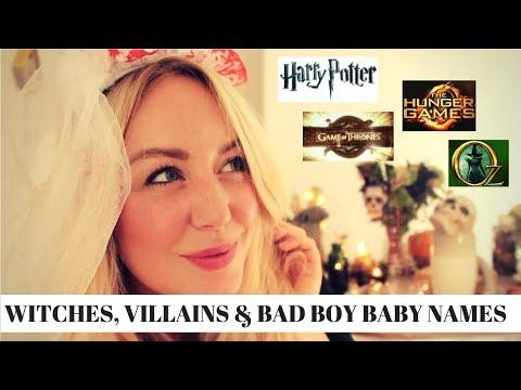 ENCHANTING HALLOWEEN BABY NAMES! WITCHES, VILLAINS & BAD BOYS | SJ STRUM