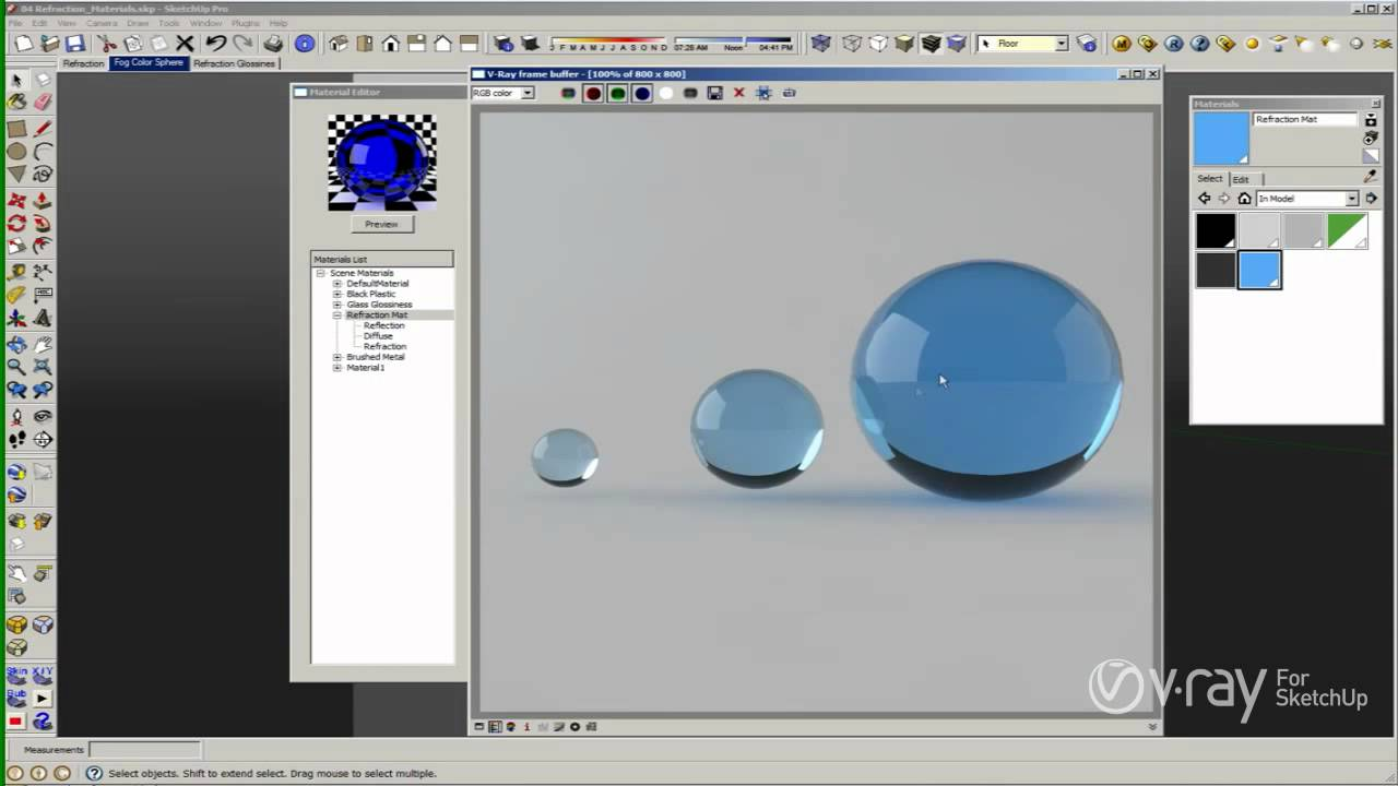 V ray for sketchup materials the refraction layer for Waste material video