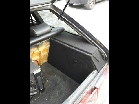 установка опор для акустической полки ваз 2114