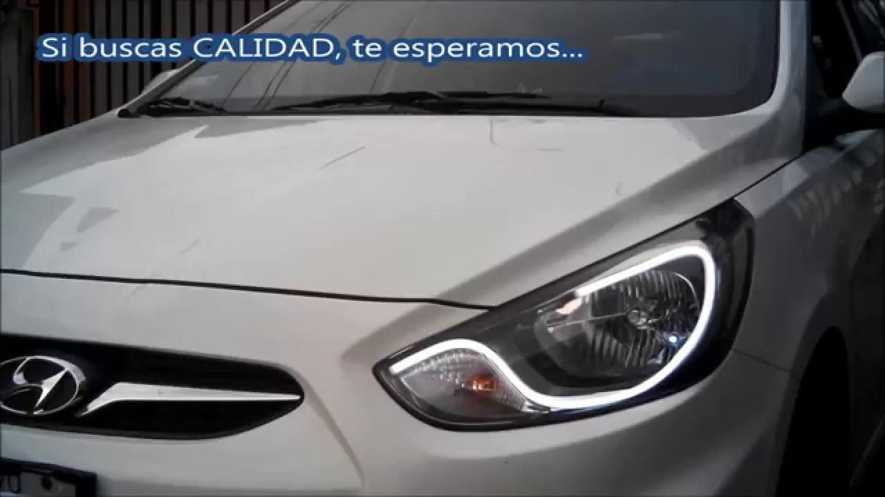 Autosled Personalizaci 243 N De Faros Hyundai Accent 2013