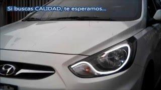 AutosLed Personalizacin de Faros Hyundai Accent 2013