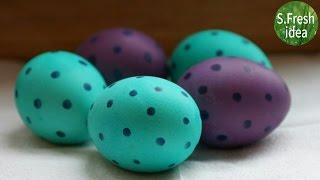 Как оригинально покрасить яйца на пасху своими руками. Пятнистые яйца на пасху.