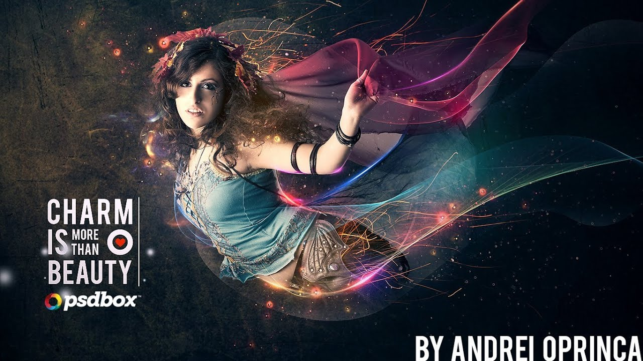 Beautiful lady with flowing light effects photoshop tutorial beautiful lady with flowing light effects photoshop tutorial youtube baditri Images