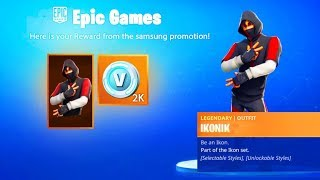 How To Unlock New IKONIK SKIN BUNDLE in Fortnite..