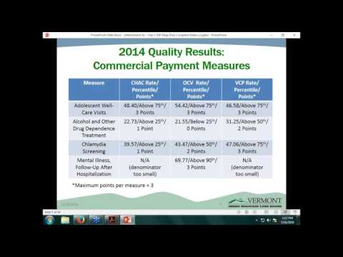 VHCIP Webinar Series: Deep Dive into Vermont's Year 1 Medicaid and Commercial ACO