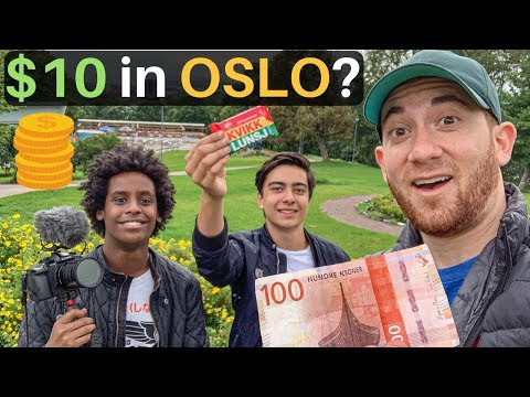 $10 Challenge In OSLO (World's Most Expensive City)