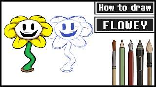 How to draw FLOWEY - Mink
