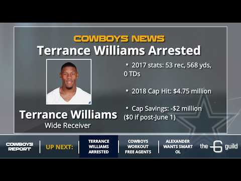 Cowboys News: Terrance Williams Arrest, Free Agent Workouts & Paul Alexander's Ketchup Evaluation