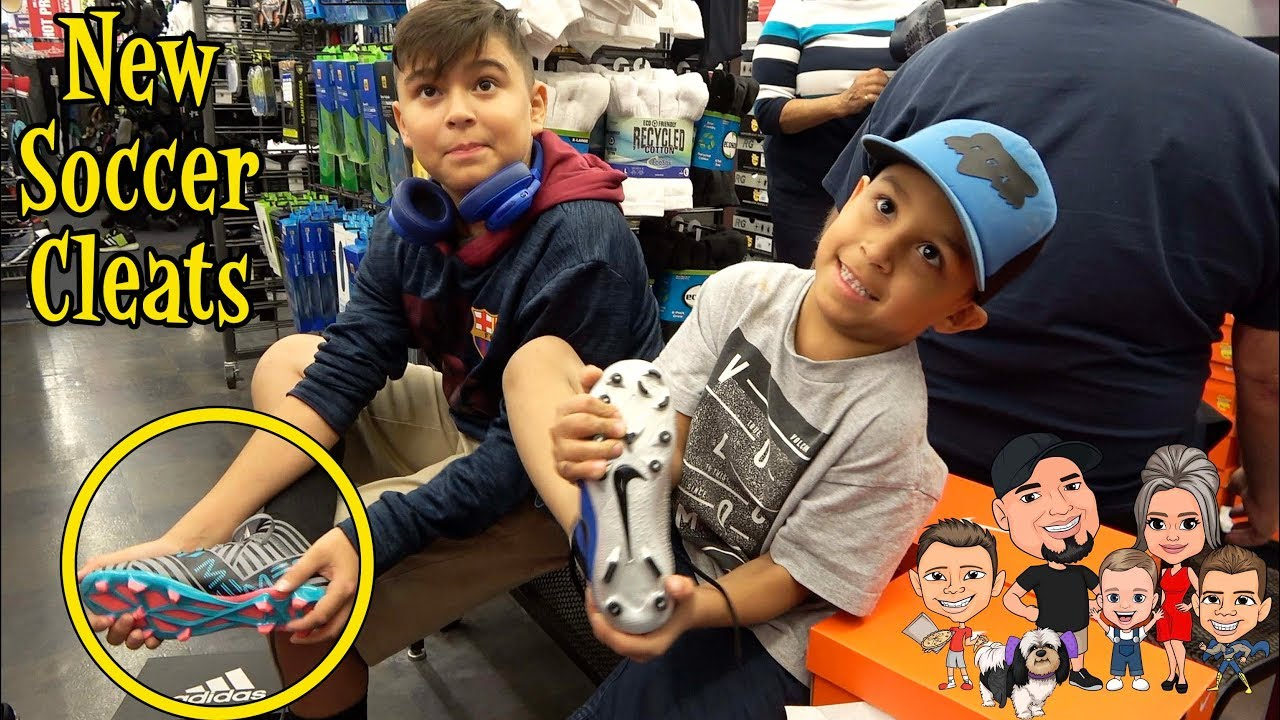 76dc56f4e NEW SOCCER CLEATS from BIG 5 | D&D FAMILY VLOGS - YouTube