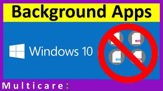 How to disable background apps on windows 10