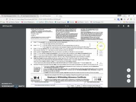 Financial Math Q1 - 2.3.1 - Filling out Tax Forms