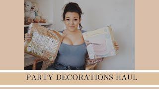 PARTY DECOR HAUL | Christening decorations | party prep