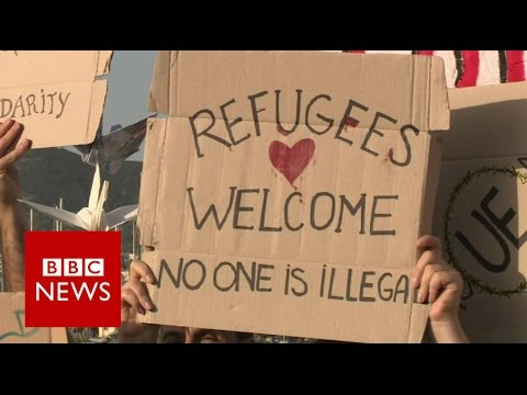 Migrants deported from Greece arrive in Turkey - BBC News