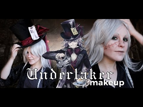 Undertaker Cosplay Makeup Tutorial Black Butler Youtube