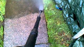 Slabs Cleaning  Using Pressure Washer By Handyman Coventry